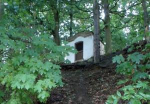 Mariánská kaple ve stráni pod tratí, o kterou se paní Marie až do smrti starala...