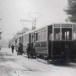 Největší stoupání na celé jihlavské trati, Havlíčkova ulice (77 promile). Proto se tato zkušební jízda v roce 1909 uskutečnila s třemi vozy, aby se ukázalo, zda je tramvaj schopna vyjet i sjet za každých okolností...