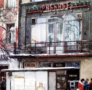 Jihlavský Passage-club, jediný socialistický noční podnik ve městě.