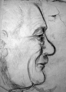 Dědeček František Zdražil (1893-1972, skica Marie Švančarová)
