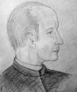 P. Karel Hugo (1927-2009, skica Marie Švančarová)